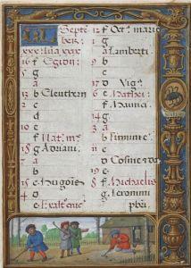 SeptemberThe_Golf_Book_(1520-1530),_f.27r_-_BL_Add_MS_24098
