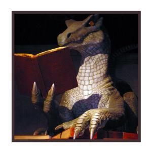 ALL his brain is lizard but he still reads.
