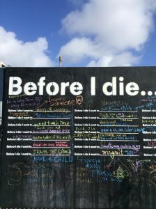 before I die chalkboard list