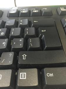 close up view compterkeyboard