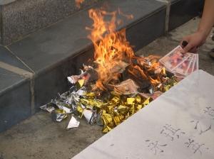 burning hell money & joss