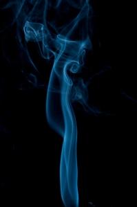 Curl of blue smoke