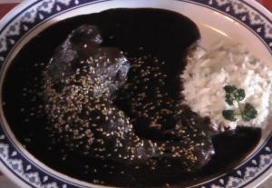 Dish of Chicken Mole Poblanp
