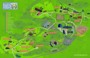 Map of Frontier Culture Museum