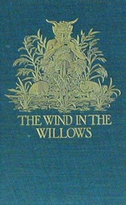 Blue and gold 1st edition cover Wind in the Willows