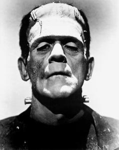 Boris Karloff in the Frankenstein's monster makeup