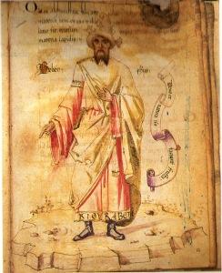 15th century Portrait of Geber,