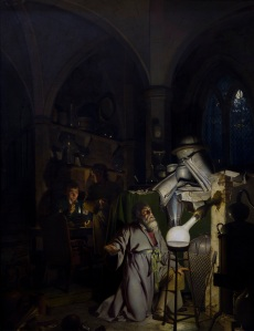 Painting by Joseph Wright of Derby of The alchemist