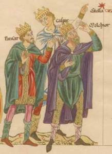 The Three Magi from a medeival manuscript