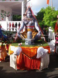 Statue of meditating Shiva deck for Maha Shivaratree