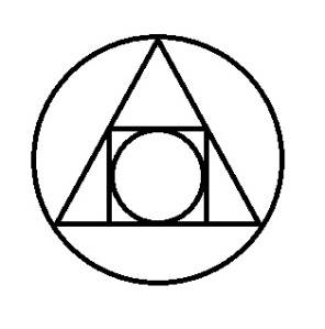 Alchemical symbol of the squared circle