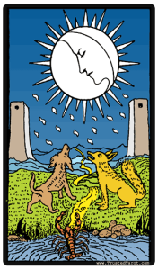 The Moon card - Rider Waite tarodesk