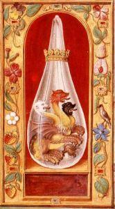 Alchemical image of the three headeddragon frpm Splendor Solis