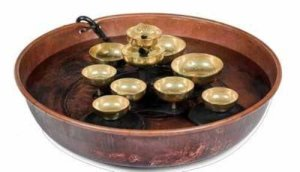 Woodstock copper water bell bowl fountain