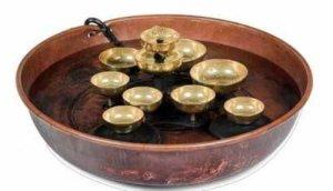 Woodstock copper water bell bowl fountain