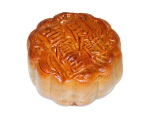 Cose up of Chinese mooncake