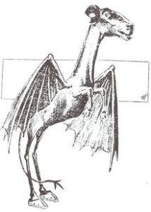 Illustration of the Jersey Devil of the New Jersey pine Barrens