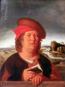 Louvre copy of portrait od Paracelsus by Quentin Matsys
