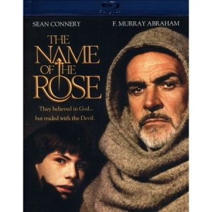 Blue Ray cover for teh Name of the Rose showing Connery and Slater