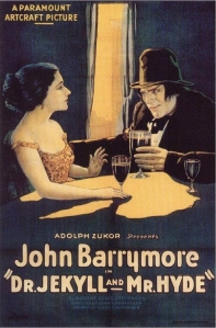 Film Poster of 1920 Dr Jekyll & Mr. Hyde with John Barrymore