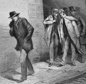Illustration from from the Illustrated London News for October 13, 1888 for an article on Jack the Ripper