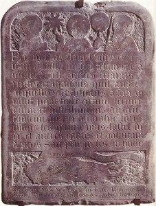 Tombstone of Nicholas Flamel
