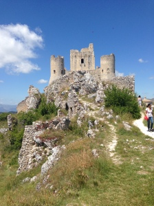 Rocco Calascio ruins, location site for The Name of the Rose