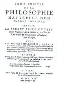 Cover of First edition cover of the book of the hieroglyphic figures, not published until 1612