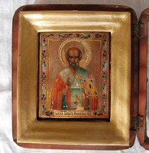 Russian icon of St Nicholas