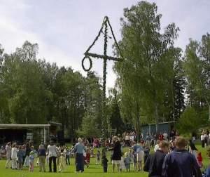 Maypole dancing in Sweden
