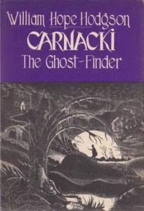 Cover dust jacket to Carnaki the Ghostfinder by William Hope Hodgson