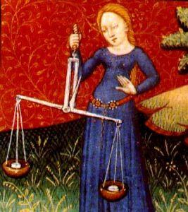 Medeival illustration of Libra